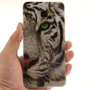 Silk gelový kryt na mobil Samsung Galaxy A3 (2016) - bílý tygr - 5