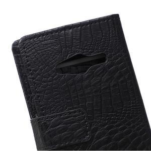 Croco peněženkové pouzdro na Samsung Galaxy Trend 2 Lite - černé - 5