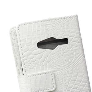 Croco peňaženkové puzdro pre Samsung Galaxy Trend 2 Lite - biele - 5