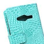 Croco peňaženkové puzdro pre Samsung Galaxy Trend 2 Lite - cyan - 5/7