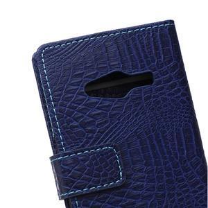 Croco peněženkové pouzdro na Samsung Galaxy Trend 2 Lite - tmavěmodré - 5