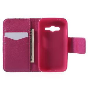 Peňaženkové puzdro pre Samsung Galaxy Trend 2 Lite - srdca - 5