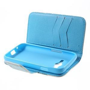 Peňaženkové puzdro pre Samsung Galaxy Trend 2 Lite - modrý slon - 5