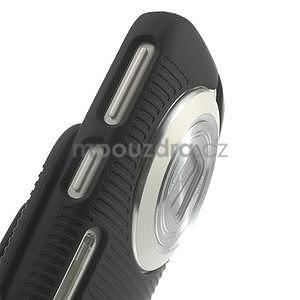Odolný pogumovaný kryt so stojanom pre Samsung Galaxy K Zoom - čierny - 5
