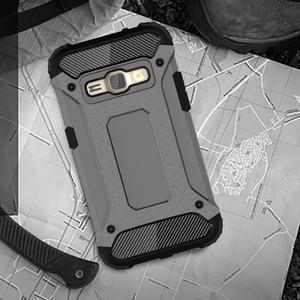 Armory odolný obal pre mobil Samsung Galaxy J1 (2016) - šedý - 5
