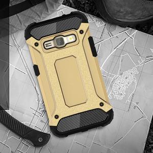 Armory odolný obal pre mobil Samsung Galaxy J1 (2016) - zlatý - 5
