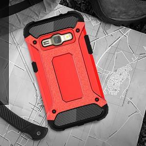 Armory odolný obal pre mobil Samsung Galaxy J1 (2016) - červený - 5