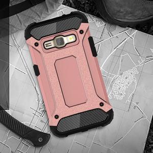 Armory odolný obal pre mobil Samsung Galaxy J1 (2016) - ružovozlatý - 5