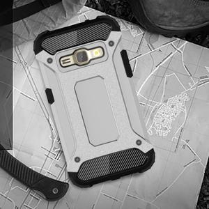 Armory odolný obal pre mobil Samsung Galaxy J1 (2016) - strieborny - 5