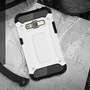 Armory odolný obal pre mobil Samsung Galaxy J1 (2016) - biely - 5