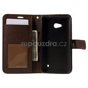 Croco peňaženkové puzdro s krokodílím motívom na Microsoft Lumia 640 - tmavohnedé - 5