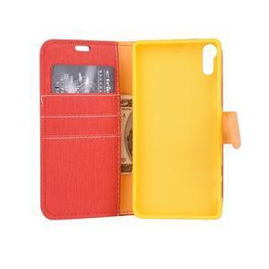Knížkové puzdro pre mobil Lenovo Vibe Shot - červené - 5