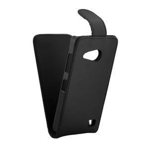 Flipové koženkové puzdro na Microsoft Lumia 550 - čierné - 5