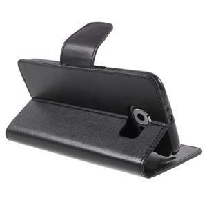 Diary PU kožené puzdro pre mobil Samsung Galaxy S6 -čierne - 5
