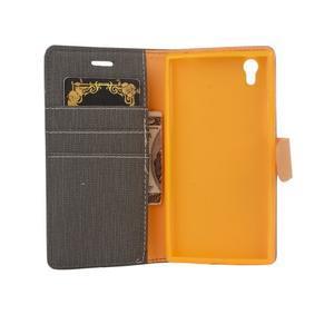 Cloth textilní/koženkové puzdro na mobil Lenovo P70 - čierné - 5