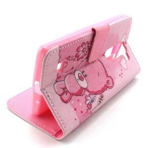 Peneženkové puzdro na mobil LG G4c - medvídek - 5