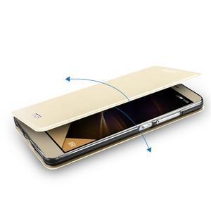 Elegantní PU kožené puzdro na mobil Huawei Honor 7 - gold - 5