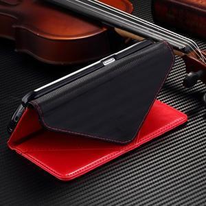Breck peňaženkové puzdro na Samsung Galaxy S6 - červené/čierné - 5