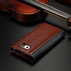 Breck peňaženkové puzdro na Samsung Galaxy S6 - hnedé/čierné - 5