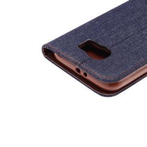 Cloth peňaženkové puzdro pre Samsung Galaxy S6 - čierné - 5