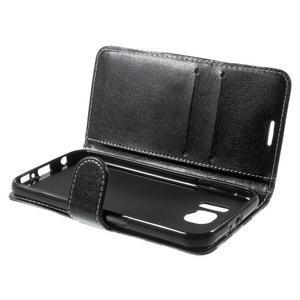 Módní štýlové puzdro na Samsung Galaxy S6 - čierné - 5