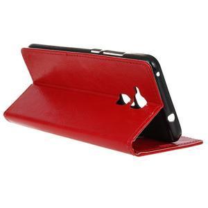 Horse PU kožené pouzdro na mobil Honor 7 Lite - červené - 5