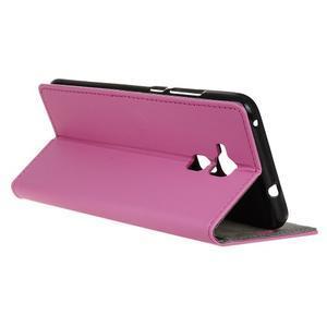 Peňaženkové PU kožené puzdro pre mobil Honor 7 Lite - rose - 5