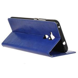 Horse PU kožené puzdro pre mobil Honor 7 Lite - modré - 5