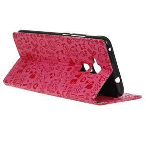 Cartoo pouzdro na mobil Honor 7 Lite - rose - 5