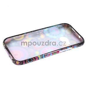 Gélový kryt na HTC One mini 2 - farebné kruhy - 5