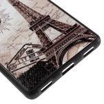 Gélový kryt s koženým chrbtom na Huawei Ascend P8 -  Eiffelova veža - 5/5