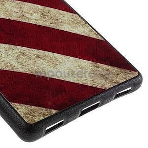 Gélový kryt s koženým chrbtom na Huawei Ascend P8 -  US vlajka - 5