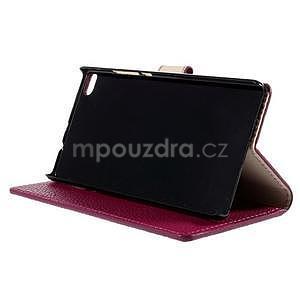 Peňaženkové kožené puzdro Huawei Ascend P8 - rose - 5