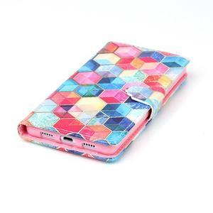 Puzdro pre mobil Huawei P8 Lite - farebné hexagony - 5