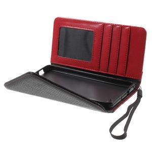 Luxusní peněženkové pouzdro na Huawei P8 Lite - červené / černé - 5