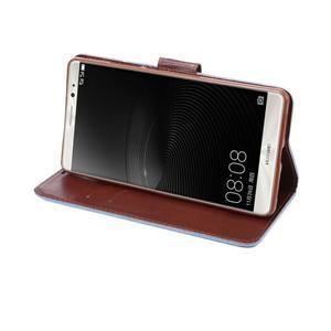 Jeans PU kožené pouzdro na mobil Huawei Mate 8 - světlemodré - 5