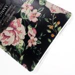 Softy gelový obal na mobil Huawei Mate 8 - květiny na černé pozadí - 5/6