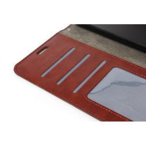 Peňaženkové puzdro na Huawei Mate 8 - hnedé - 5