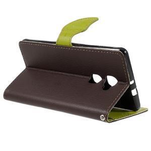 Knižkové PU kožené puzdro na mobil Huawei Mate S - hnedé - 5