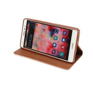 Style knížkové pouzdro na mobil Huawei Mate S - oranžovohnědé - 5