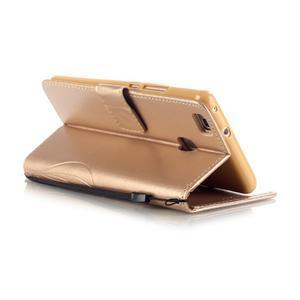 Magicfly knížkové pouzdro na telefon Huawei P9 Lite - zlaté - 5