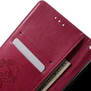 Cloverleaf penženkové pouzdro s kamínky na Huawei P9 Lite - rose - 5