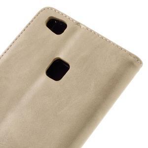 Klopové pouzdro na mobil Huawei P9 Lite - béžové - 5