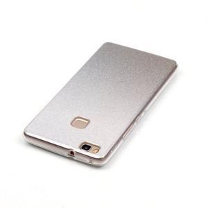 Gradient třpitivý gelový obal na Huawei P9 Lite - šedý - 5
