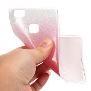 Gradient třpitivý gelový obal na Huawei P9 Lite - rose - 5