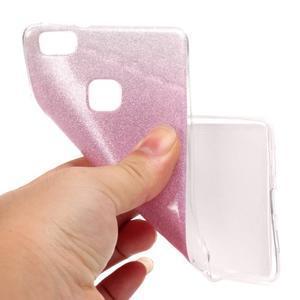 Gradient třpitivý gelový obal na Huawei P9 Lite - růžový - 5