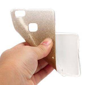 Gradient třpitivý gelový obal na Huawei P9 Lite - zlatý - 5