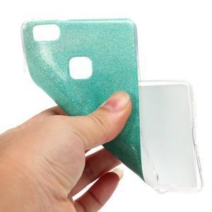 Gradient třpitivý gelový obal na Huawei P9 Lite - azurový - 5