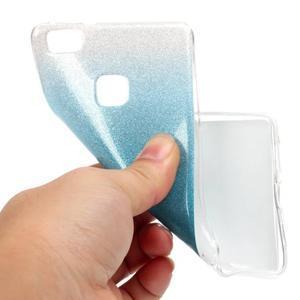 Gradient třpitivý gelový obal na Huawei P9 Lite - světlemodrý - 5