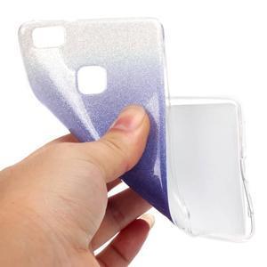 Gradient třpitivý gelový obal na Huawei P9 Lite - fialový - 5